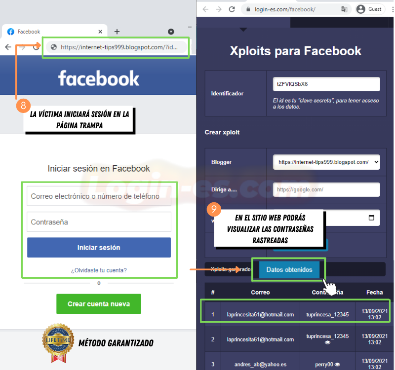 pasos para hackear facebook con xploits