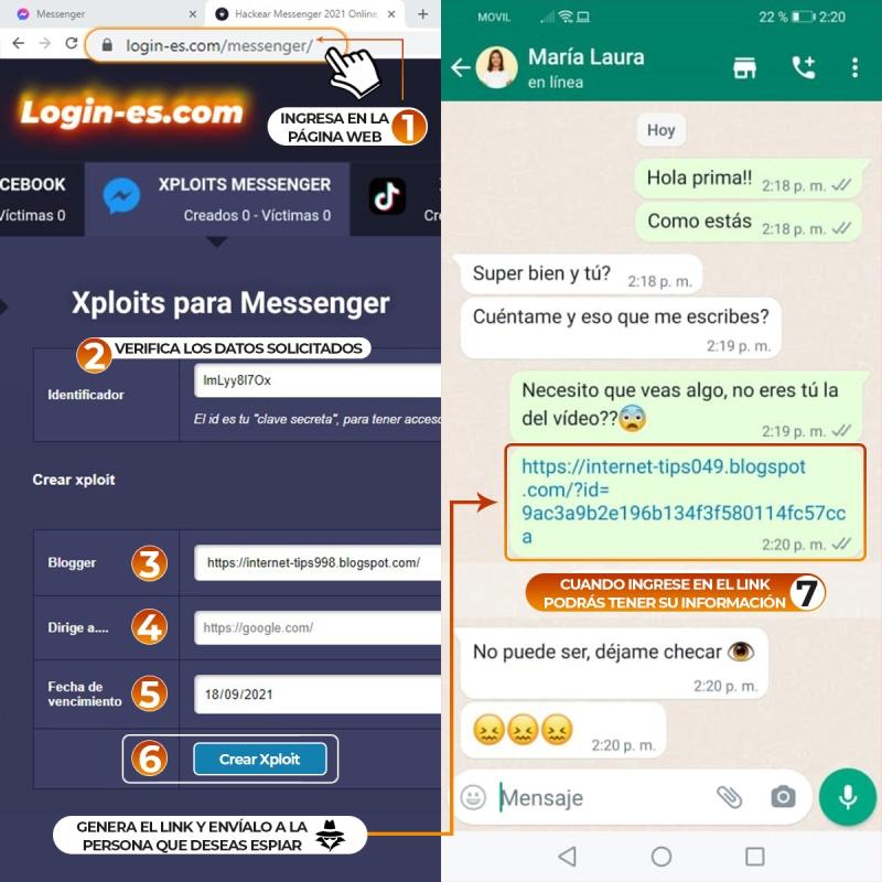 hackear messenger facil
