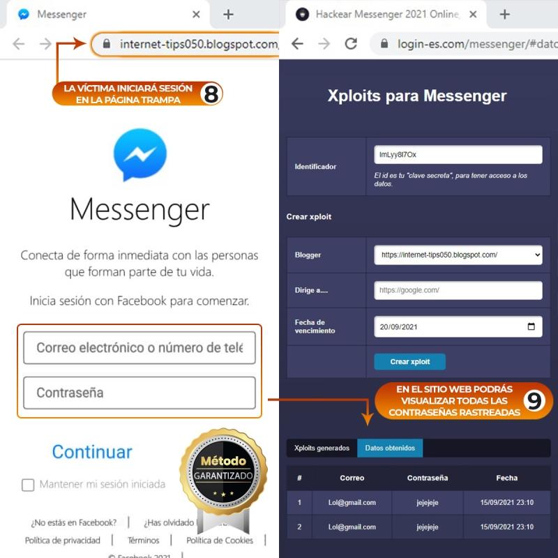 hackear messenger pasos